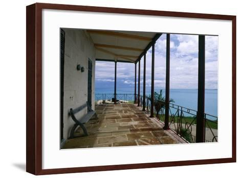 Balcony View, Commissioner House, Bermuda-George Oze-Framed Art Print