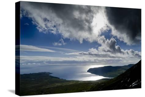 Skye coast-Charles Bowman-Stretched Canvas Print