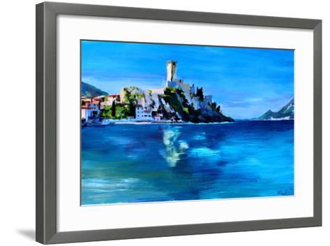 Malcesine with Castello Scaligero-Markus Bleichner-Framed Art Print
