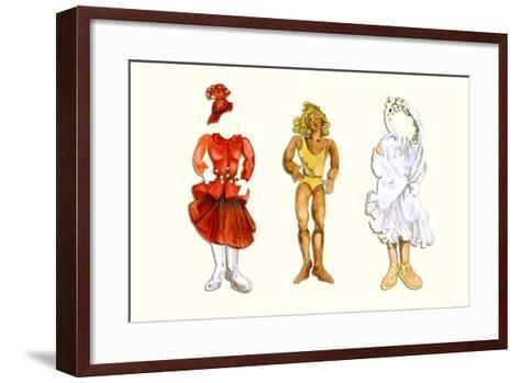 Goldilocks Paper Doll-Zelda Fitzgerald-Framed Art Print