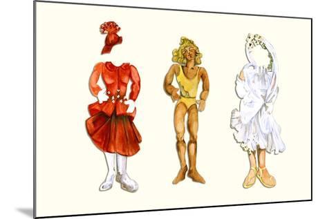 Goldilocks Paper Doll-Zelda Fitzgerald-Mounted Art Print