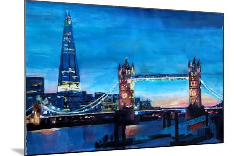 London Tower Bridge and The Shard at Dusk-Markus Bleichner-Mounted Art Print