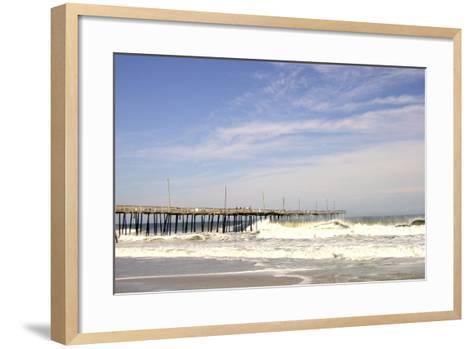 Pier at Nags Head-Martina Bleichner-Framed Art Print