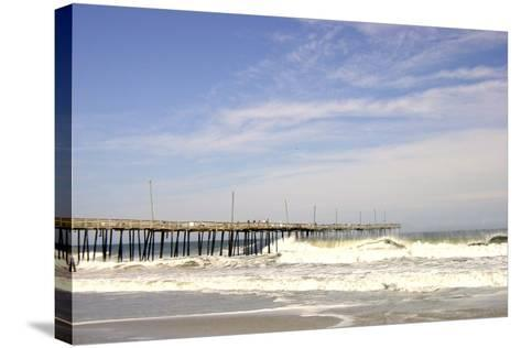 Pier at Nags Head-Martina Bleichner-Stretched Canvas Print