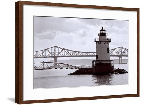 Lighthouse on The Hudson, Tarrytown, New York-George Oze-Framed Art Print