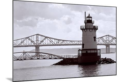 Lighthouse on The Hudson, Tarrytown, New York-George Oze-Mounted Photographic Print