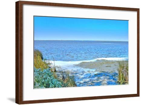 Blue Beach Scene at Outer Banks-Martina Bleichner-Framed Art Print