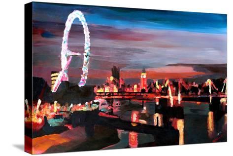 London Eye Night-Markus Bleichner-Stretched Canvas Print