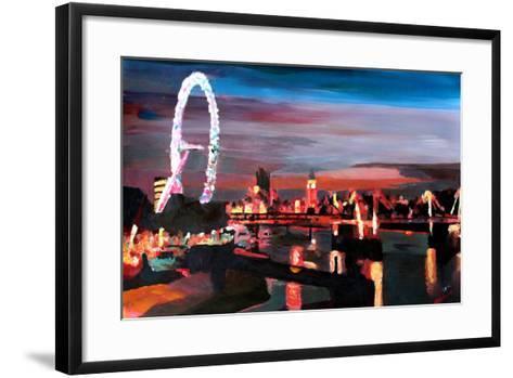 London Eye Night-Markus Bleichner-Framed Art Print