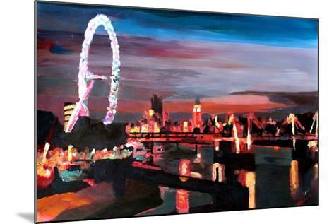 London Eye Night-Markus Bleichner-Mounted Art Print