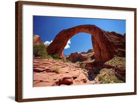 Rainbow Bridge, Lake Powell, Utah-George Oze-Framed Art Print