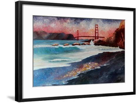 San Francisco Golden Gate at Dawn-Markus Bleichner-Framed Art Print