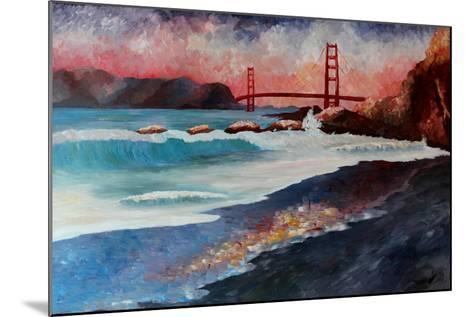 San Francisco Golden Gate at Dawn-Markus Bleichner-Mounted Art Print