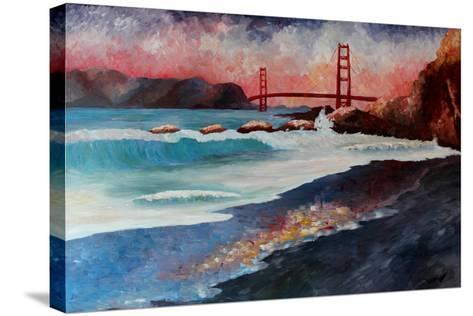 San Francisco Golden Gate at Dawn-Markus Bleichner-Stretched Canvas Print