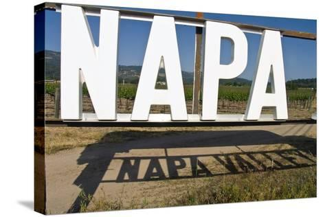Napa Valley Sign-George Oze-Stretched Canvas Print
