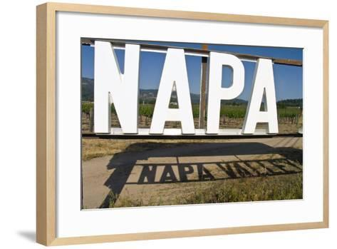 Napa Valley Sign-George Oze-Framed Art Print