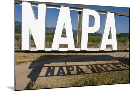 Napa Valley Sign-George Oze-Mounted Photographic Print