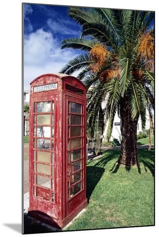 Telephone Booth, Bermuda-George Oze-Mounted Photographic Print