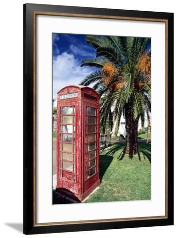 Telephone Booth, Bermuda-George Oze-Framed Art Print