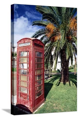 Telephone Booth, Bermuda-George Oze-Stretched Canvas Print