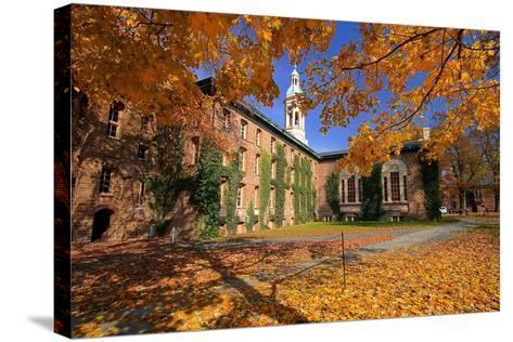 Nassau Hall At Fall, Princeton University-George Oze-Stretched Canvas Print