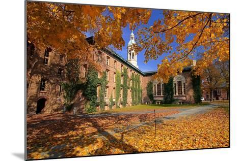 Nassau Hall At Fall, Princeton University-George Oze-Mounted Photographic Print