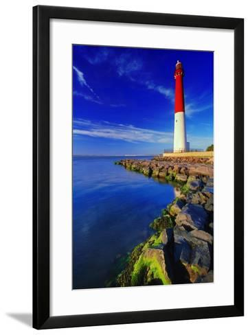 Barnegat Lighthouse, New Jersey-George Oze-Framed Art Print