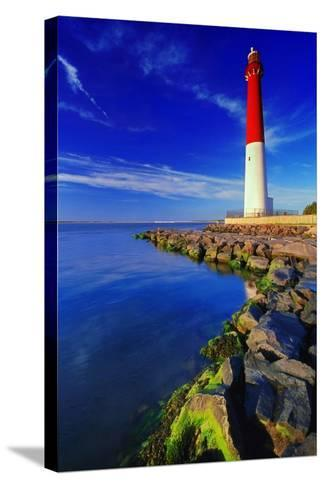 Barnegat Lighthouse, New Jersey-George Oze-Stretched Canvas Print