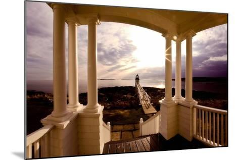 Marshall Point Sunset Viewed from a Balcony-George Oze-Mounted Photographic Print