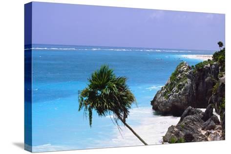 Tulum Shoreline Mexico-George Oze-Stretched Canvas Print