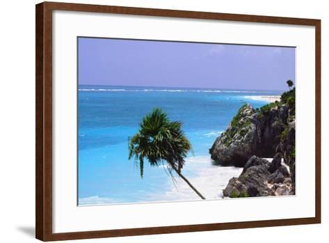 Tulum Shoreline Mexico-George Oze-Framed Art Print