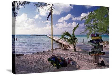 Rum Point View Grand Cayman Island-George Oze-Stretched Canvas Print