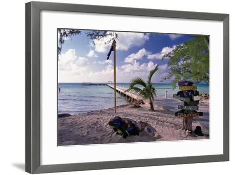 Rum Point View Grand Cayman Island-George Oze-Framed Art Print