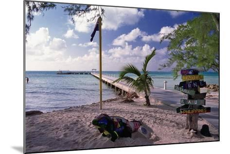 Rum Point View Grand Cayman Island-George Oze-Mounted Photographic Print
