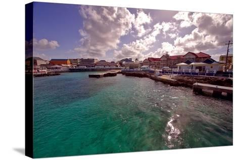 Georgetown Harbor Early Morning Cayman Islands-George Oze-Stretched Canvas Print