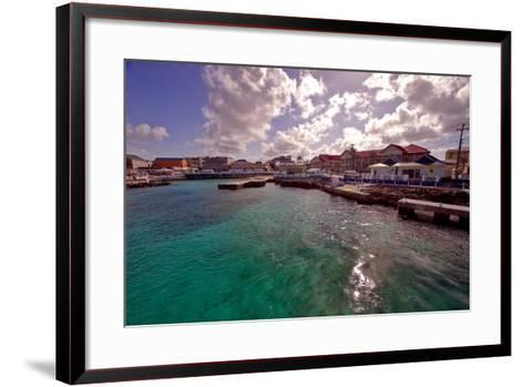 Georgetown Harbor Early Morning Cayman Islands-George Oze-Framed Art Print