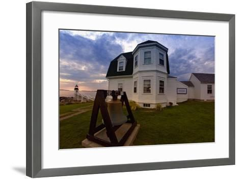 The Lighthouse of Marshall Point Maine-George Oze-Framed Art Print