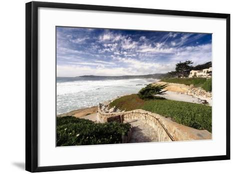 Coastal View, Carmel,California-George Oze-Framed Art Print