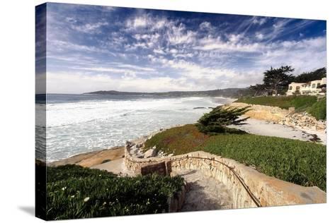 Coastal View, Carmel,California-George Oze-Stretched Canvas Print