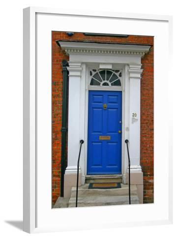 Blue Old Door in Windsor, England-Martina Bleichner-Framed Art Print