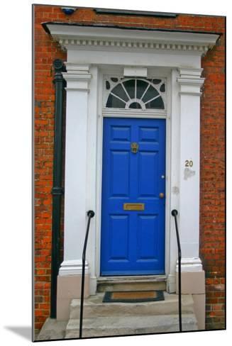 Blue Old Door in Windsor, England-Martina Bleichner-Mounted Art Print