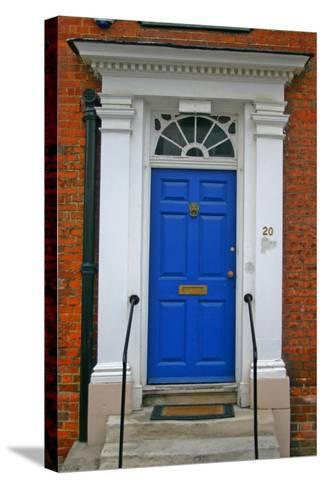 Blue Old Door in Windsor, England-Martina Bleichner-Stretched Canvas Print