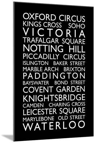 London Bus Roll (Bus Blind)-Michael Tompsett-Mounted Art Print