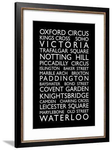 London Bus Roll (Bus Blind)-Michael Tompsett-Framed Art Print