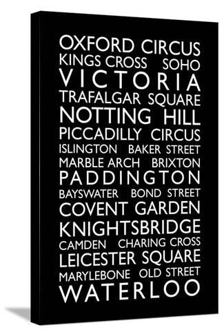 London Bus Roll (Bus Blind)-Michael Tompsett-Stretched Canvas Print