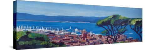 St Tropez Summer Sun Seaview in France-Markus Bleichner-Stretched Canvas Print
