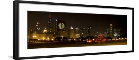 Chicago Black Hawks Skyline-Patrick Warneka-Framed Art Print