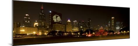 Chicago Black Hawks Skyline-Patrick Warneka-Mounted Photographic Print