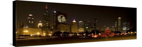 Chicago Black Hawks Skyline-Patrick Warneka-Stretched Canvas Print