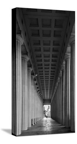 Soldier Field Colonnade Chicago BW-Steve Gadomski-Stretched Canvas Print